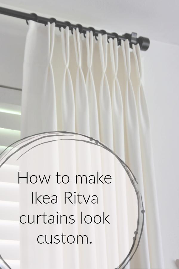 Ikea Hack How To Make Ready Made Ikea Ritva Curtains Look Like Expensive Custom Drapes Mimzy Company Custom Drapes Ikea Hack Ikea Curtains