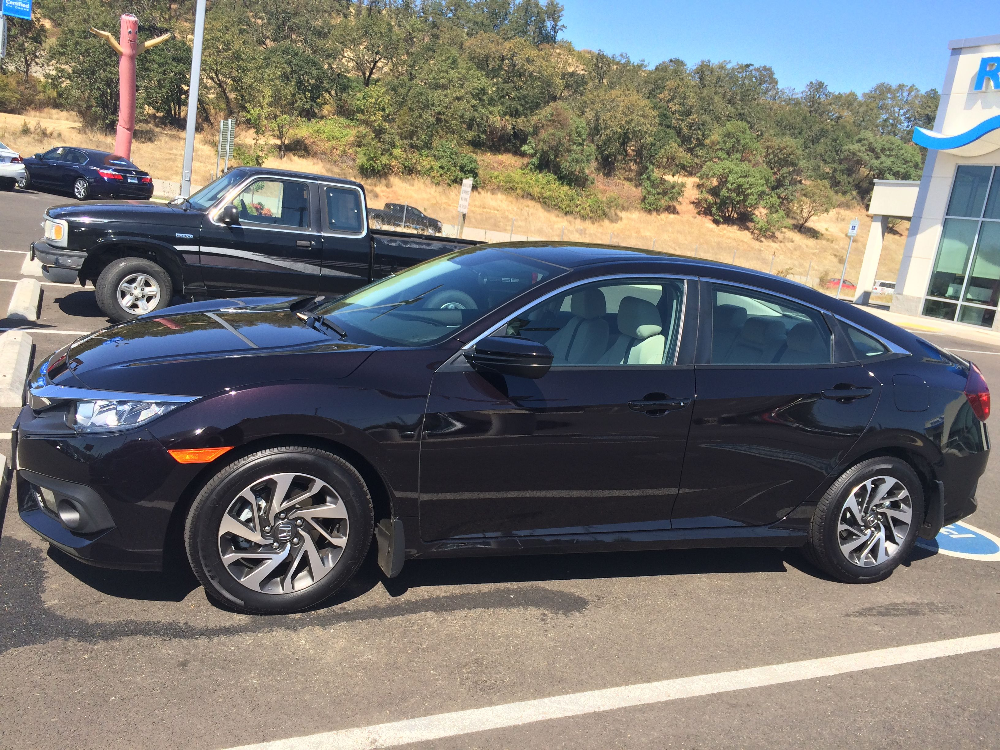 2016 Honda Civic Ex With Sensing Burgundy Night Pearl Honda