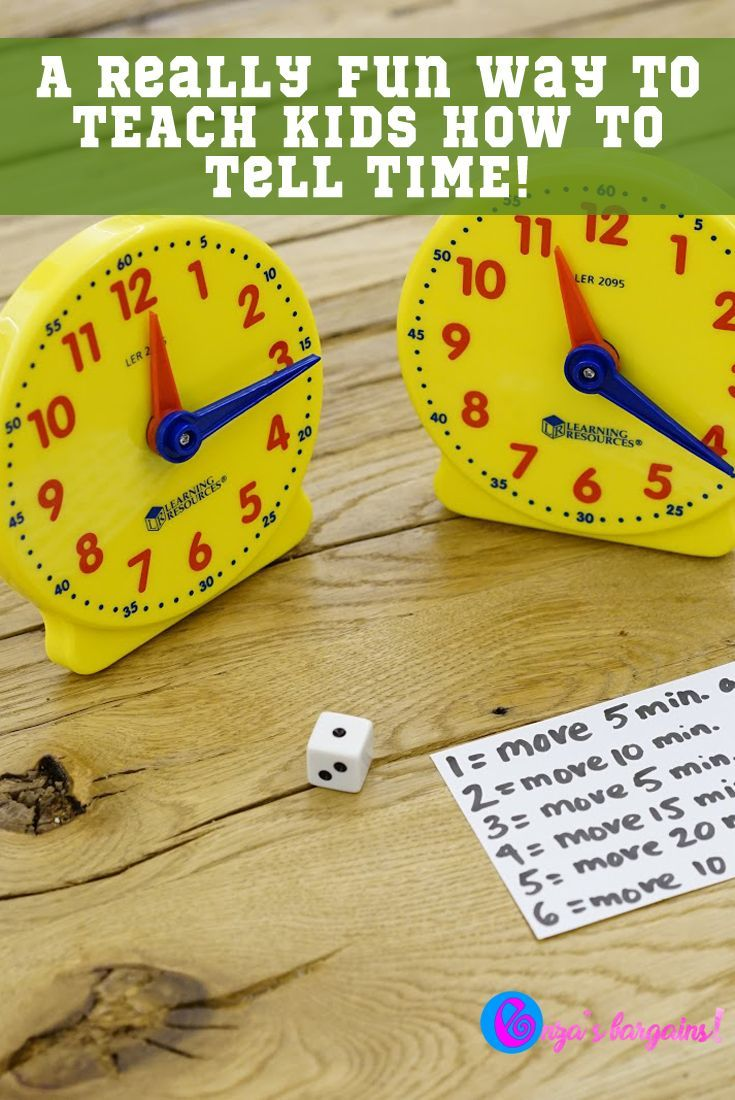 Rush Hour Game How to TEACH Kids How to Tell Time (With