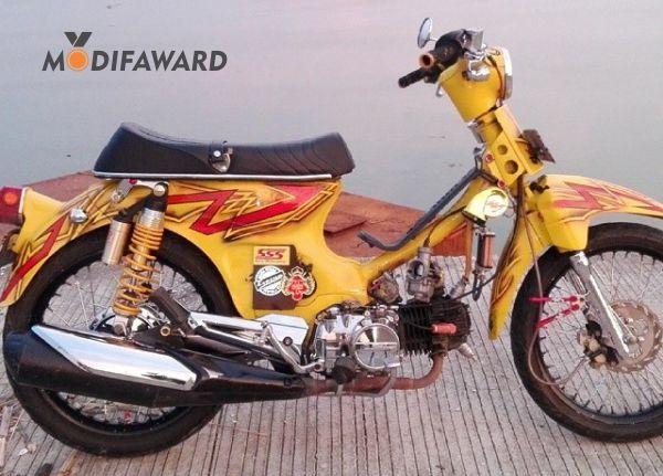 Honda C70 Modifikasi Keren Honda Sepeda Motor Motor