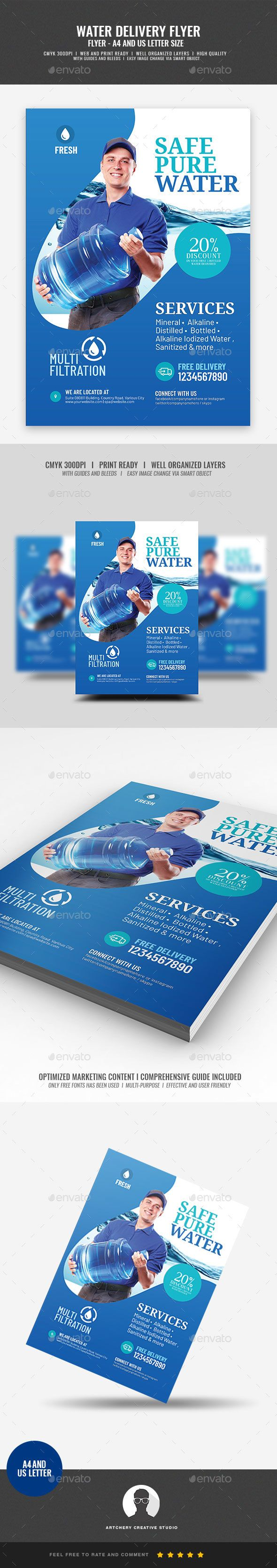 Water Refilling Station Flyer Template Psd