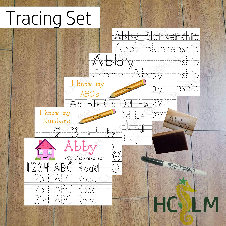 Kids Name Tracing Worksheet Set Learning To Write