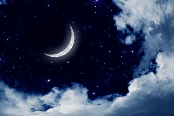 Moonlight Moon Night Nature Landscape Clouds Stars Sky Wallpaper Background Night Sky Moon Night Skies Sky Photography