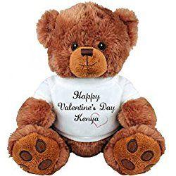 Happy Valentine S Day Kenya Bear Gift Medium Plush Teddy Bear Valentines Day Teddy Bear Teddy Bear Personalized Valentines