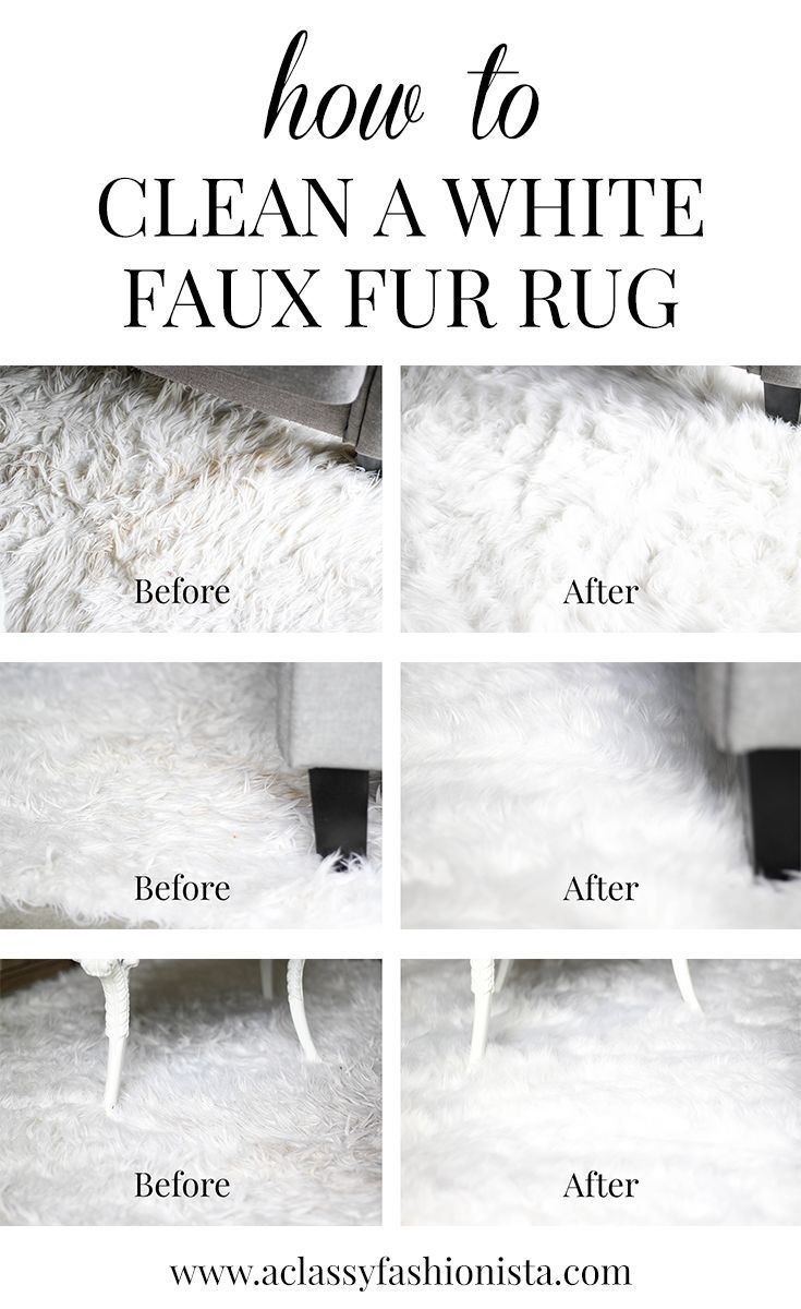 How to clean a white faux fur rug a classy fashionista