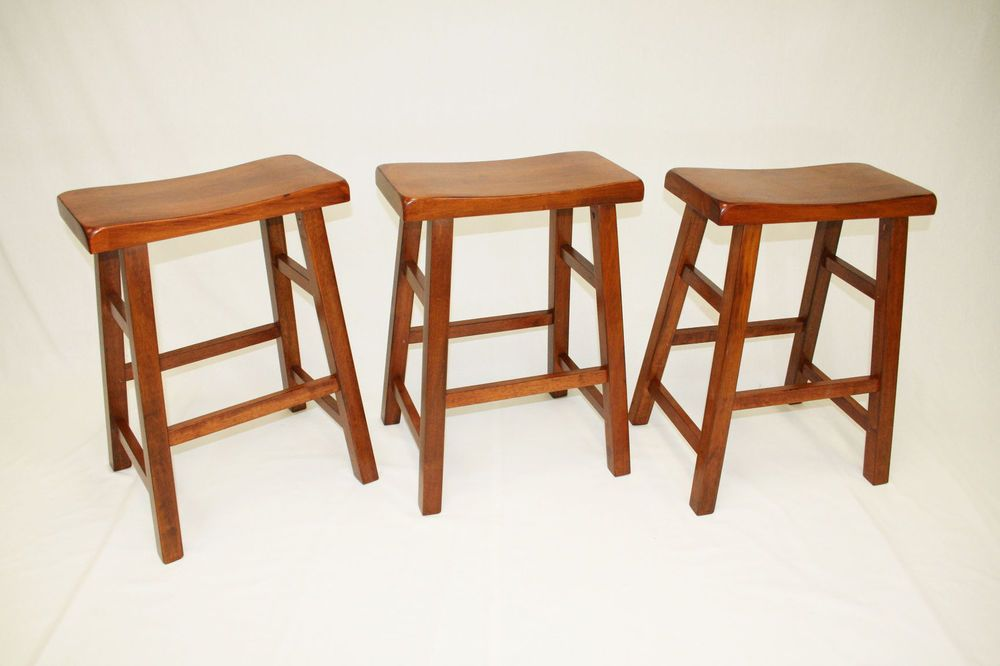Details About Ehemco 24 Saddle Seat Bar Counter Stools Set Of 3 Saddle Seat Bar Stool Bar Stools Industrial Bar Stools