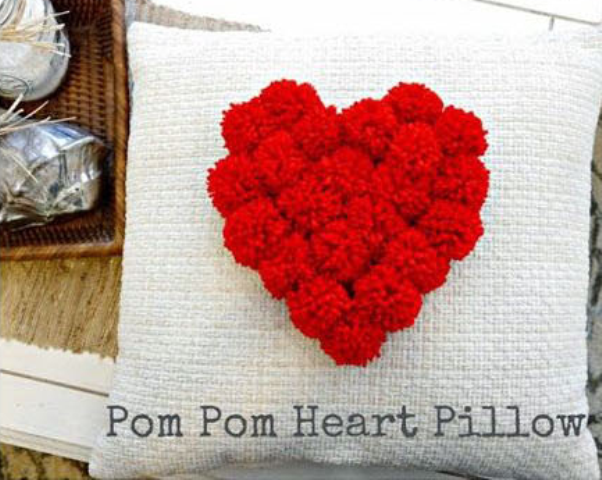 DIY Guide to Make a Pom Pom Heart Pillow