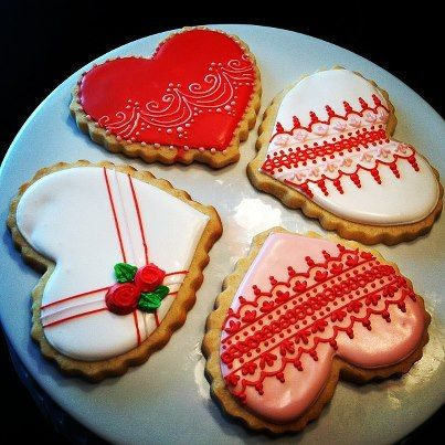 Katrina Tines latest Valentine cookies.  She teaches awesome classes at La Cuisine.