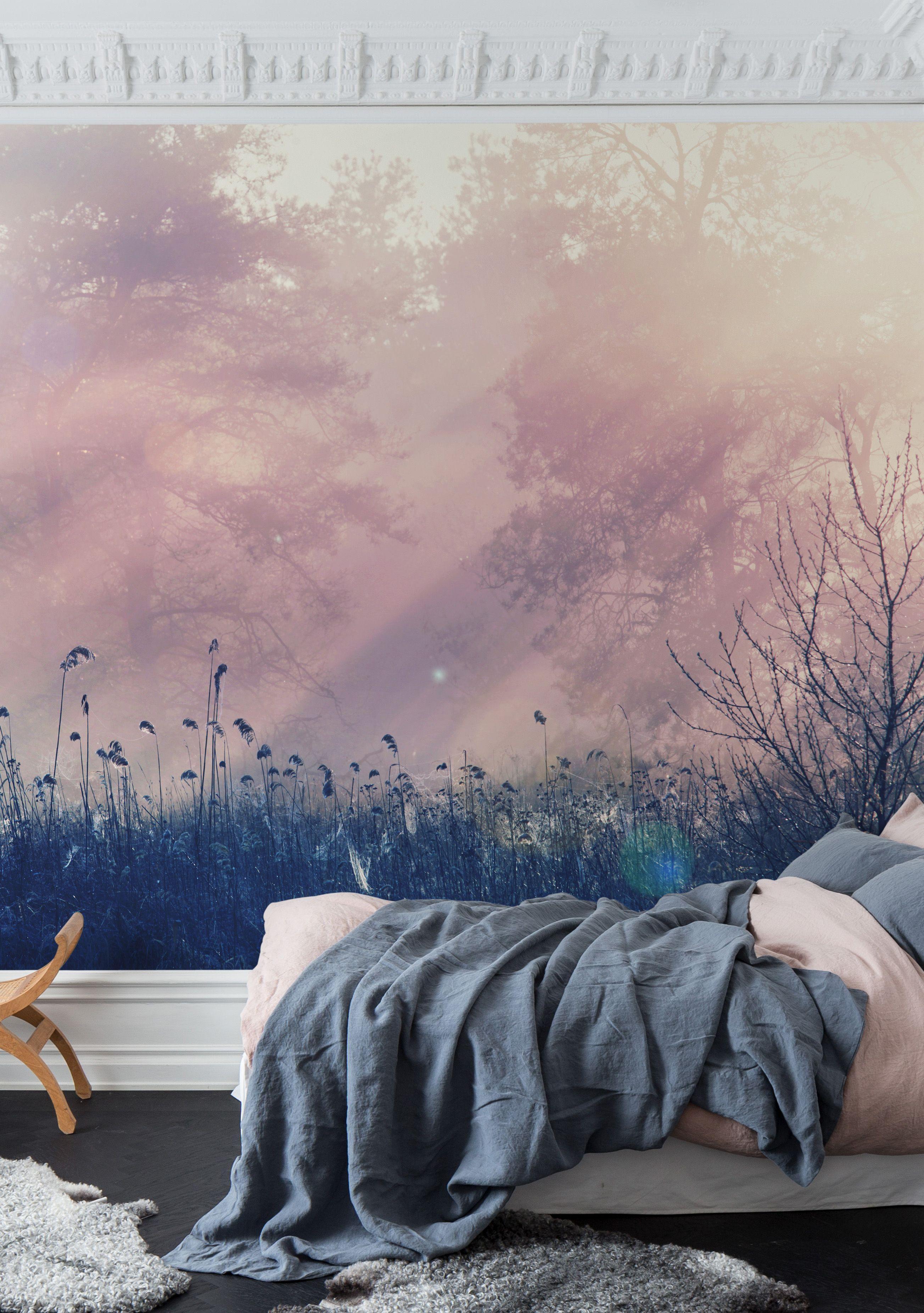 Pink Dawn Tapete Schlafzimmer Schlafzimmer Tapete Tapete Flur