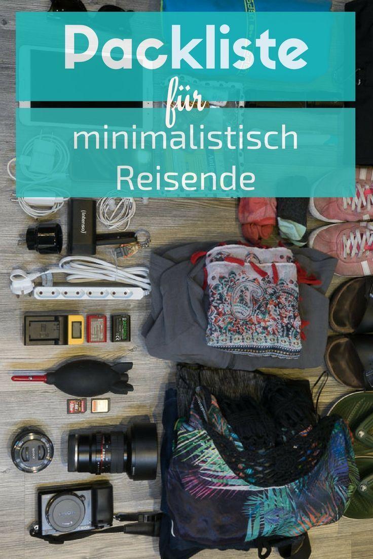 Minimalistische reise packliste checkliste reise liste for Minimalistisch werden
