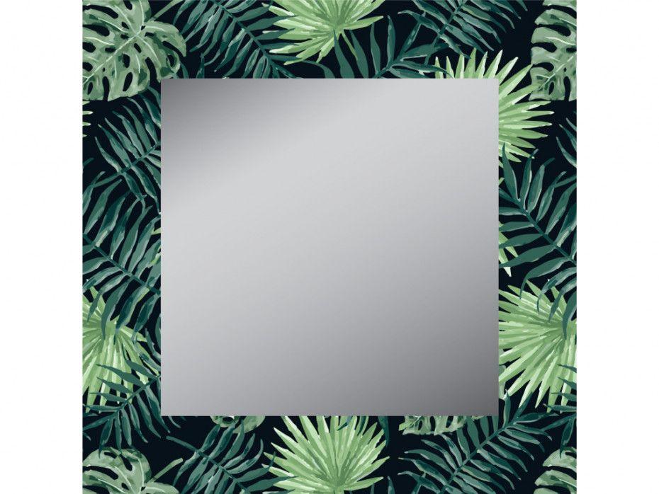 Miroir carré FOREST - 40x40 cm - MDF - Vert Tendance Exotique