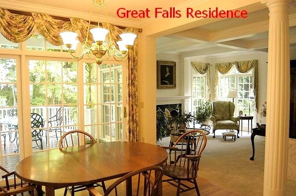 Traditional Living Dining Room, Classical Federal Architecture, Kitchen  Curtain U0026 Formal Draperies, Floral