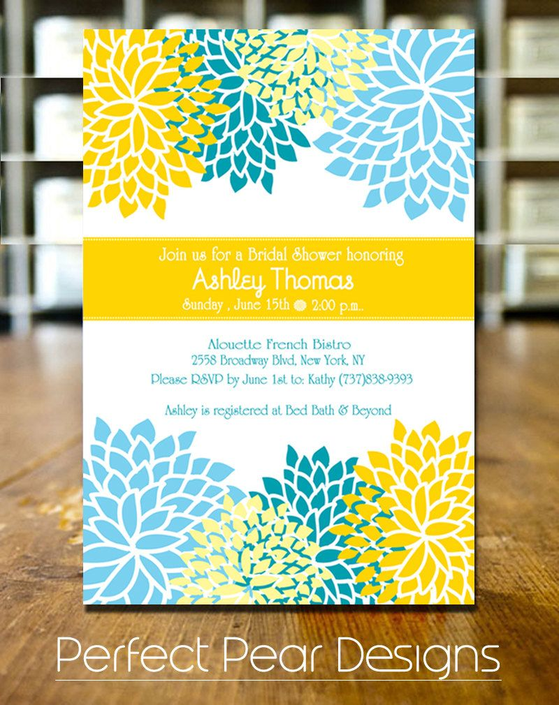 Bridal Shower Invitation for the Blooming by PerfectPearDesigns