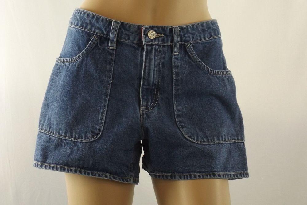 Women's Size 6 Gap Denim Blue Jean Shorts Medium Wash 100% Cotton Low Rise EUC #GAP #Denim
