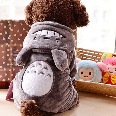 Lovely Velvet Gray Totoro Clothes for Pet Dog(Assorted Sizes) - USD $ 15.51