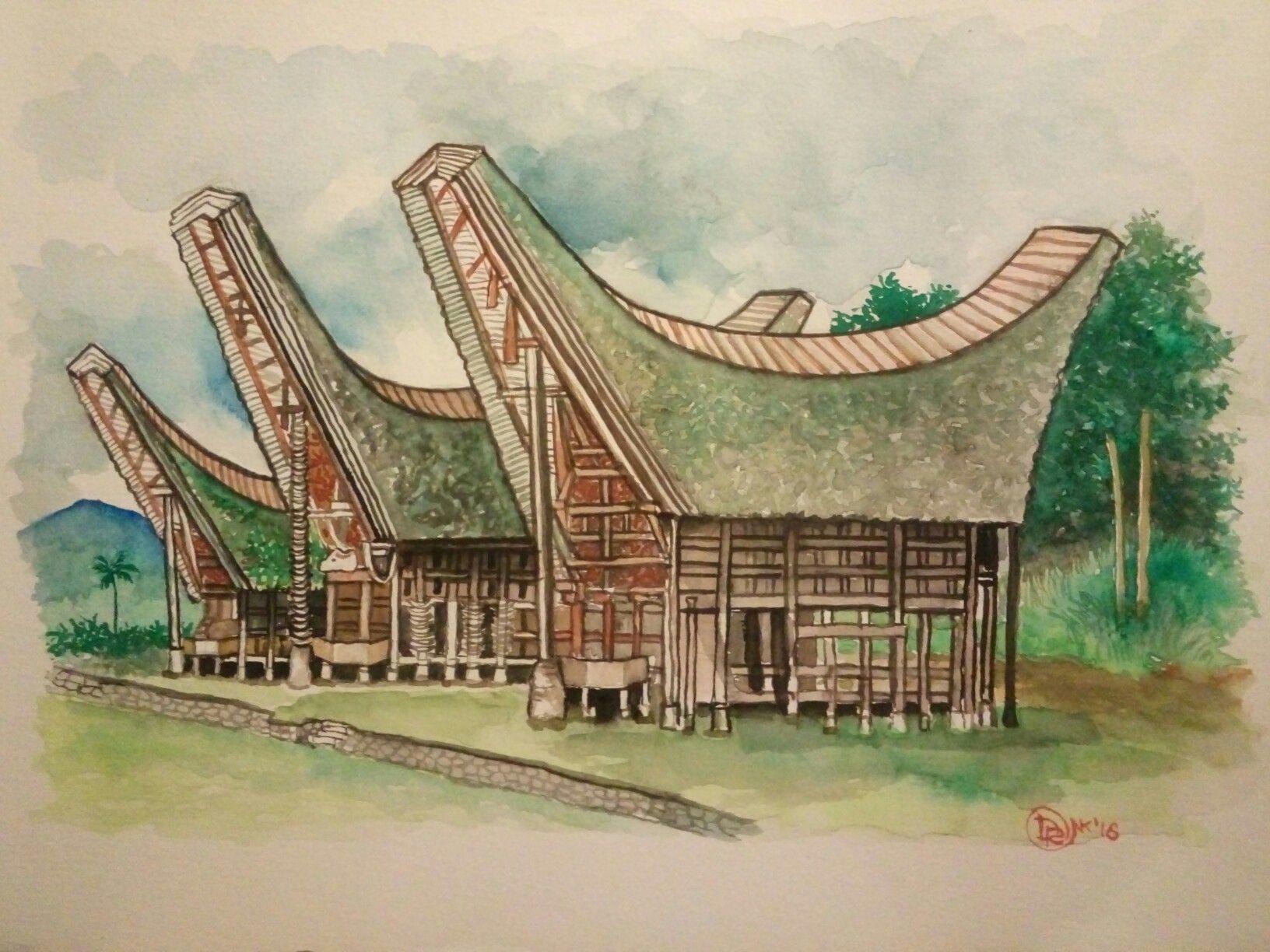 Gambar Rumah Adat Toraja