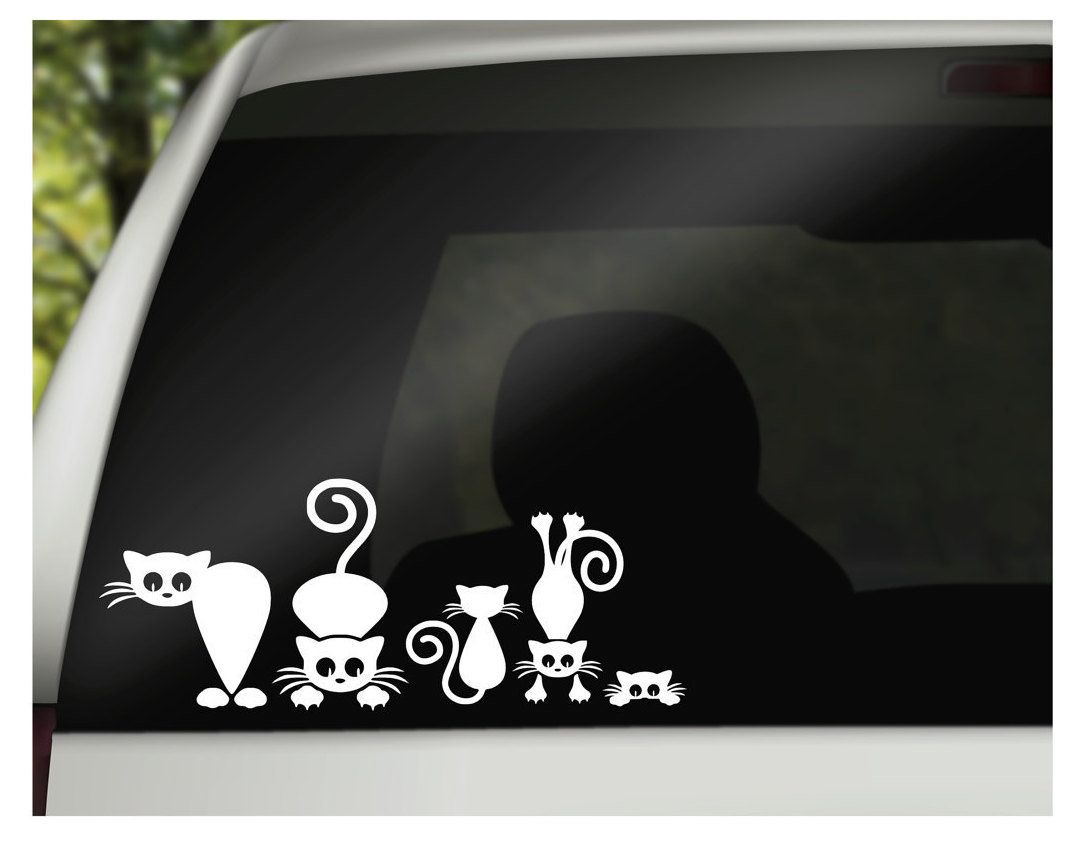 Family Car Decals Family Car Stickers Silly Cat Family Car Etsy Family Car Decals Family Car Stickers Car Decals Vinyl [ 842 x 1081 Pixel ]