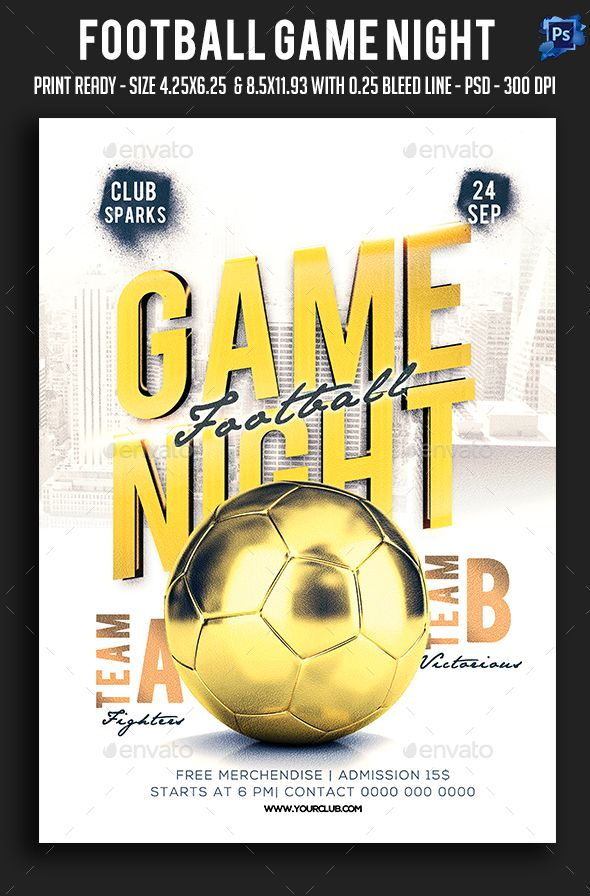 Football Game Night Flyer Game Night Psd Templates And Gaming