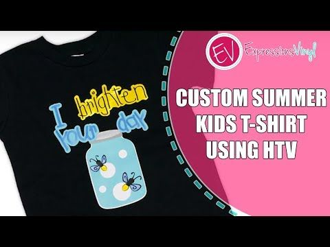 9901ced8 (25) Custom Summer Kids T-Shirt Using Siser Heat Transfer Vinyl - YouTube