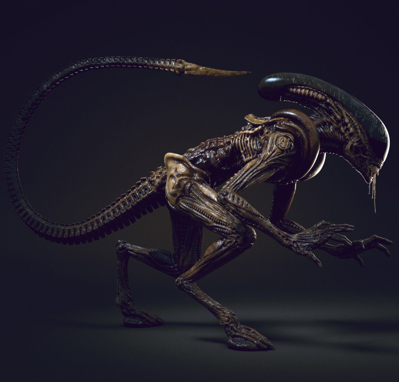 Alien 3 Movie: Alien Runner - Alien Fan Art By Alex Vasin