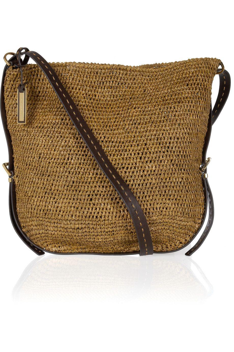 cabec5631e0300 Michael Kors Santorini woven raffia crossbody bag | Crochet HandBag ...