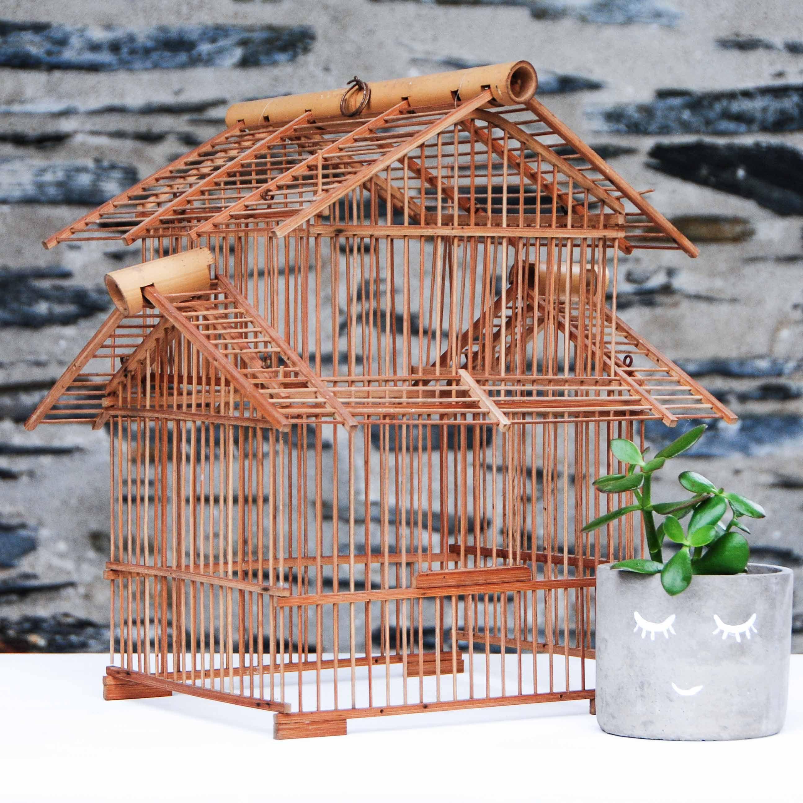 Cage en Bambou | Esprit #brocante | 38€ sur GrisGroseille.com