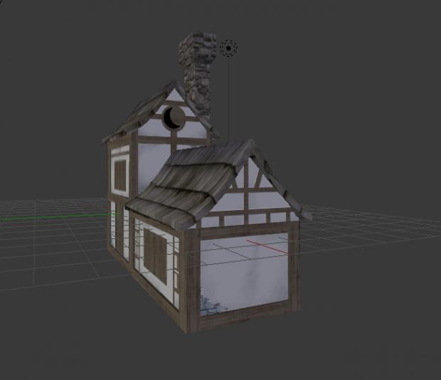 Medieval home 3d model free   CS188   Model homes, Blender