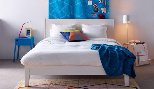 Doppelbetten wie zB NORDLI Bettgestell, weiß Zimmer N - engere