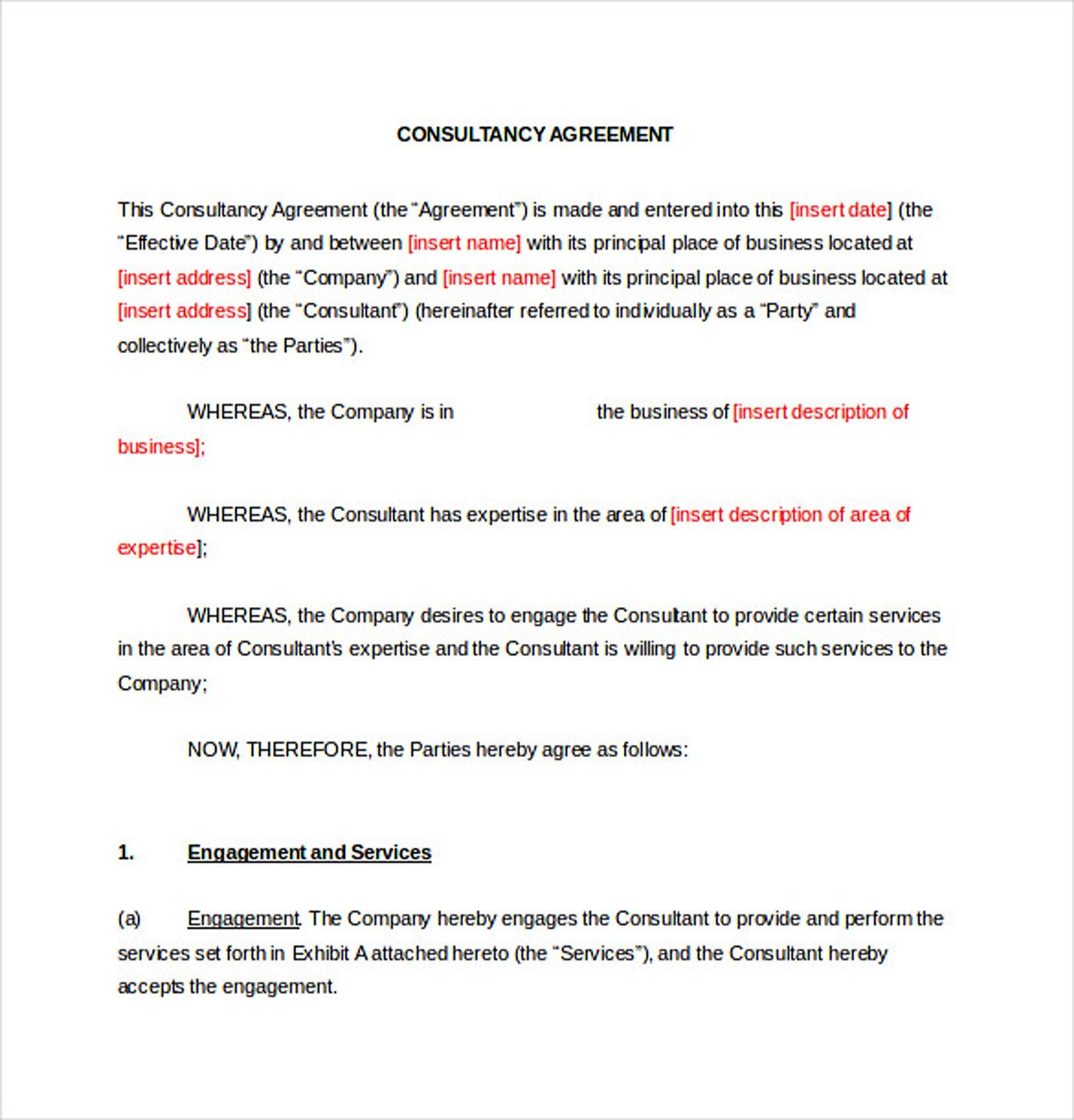 Consultancy Consulting Agreement 9 Consulting Agreement Template Understanding About Consulting Agreement Template Is Recommended For You Who Want To Know