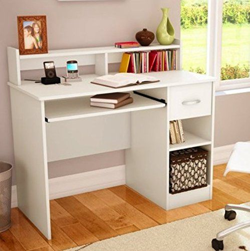 south shore study table desk furniture white south shore. Black Bedroom Furniture Sets. Home Design Ideas