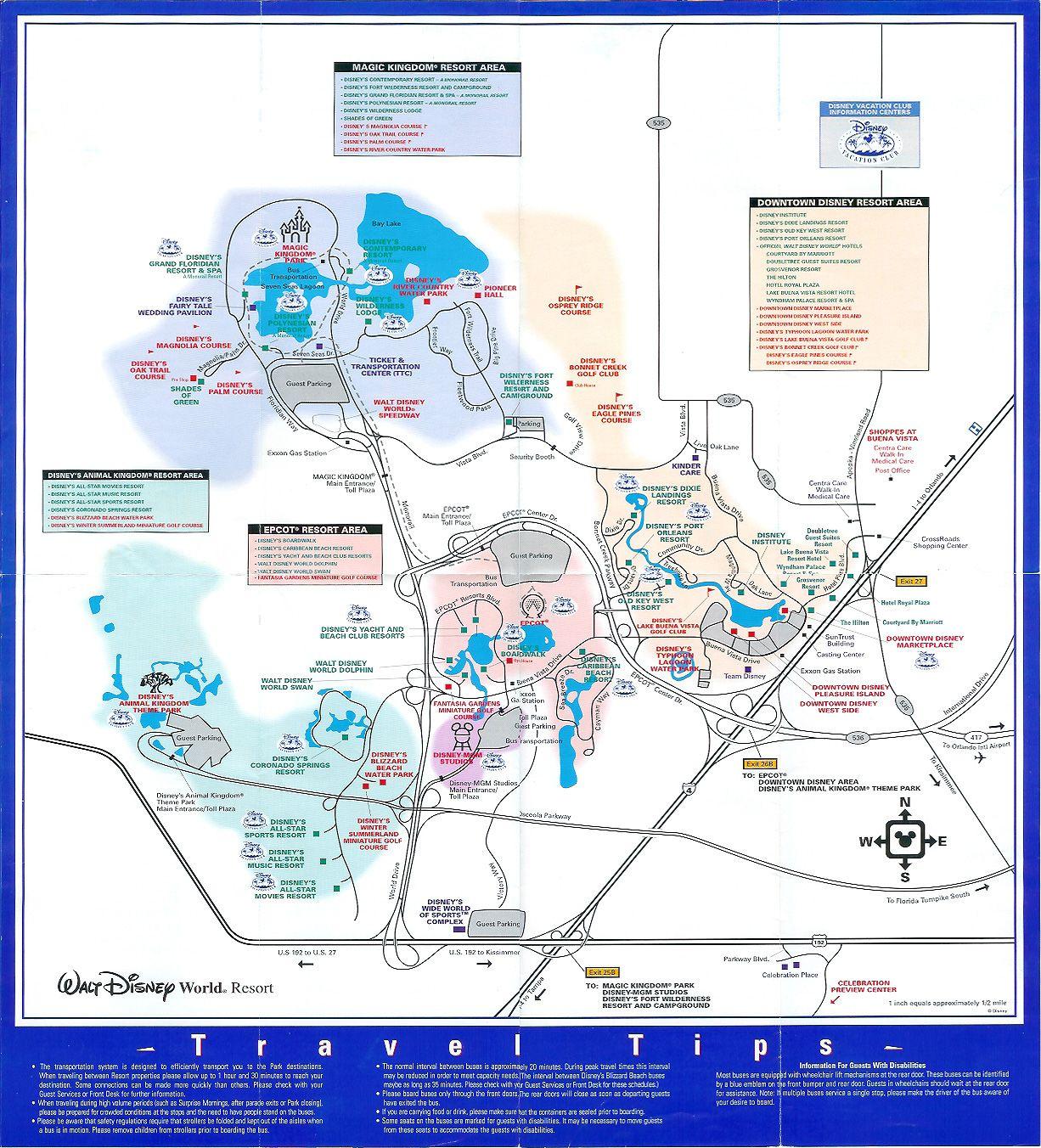 Walt Disney World Property - 2003 | Theme Park Maps... | Pinterest ...
