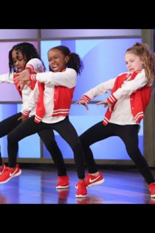 These Tween Girls Dancing On Ellen Will Blow Your Mind Kids Dance Dance Music Videos High School Dance Battle