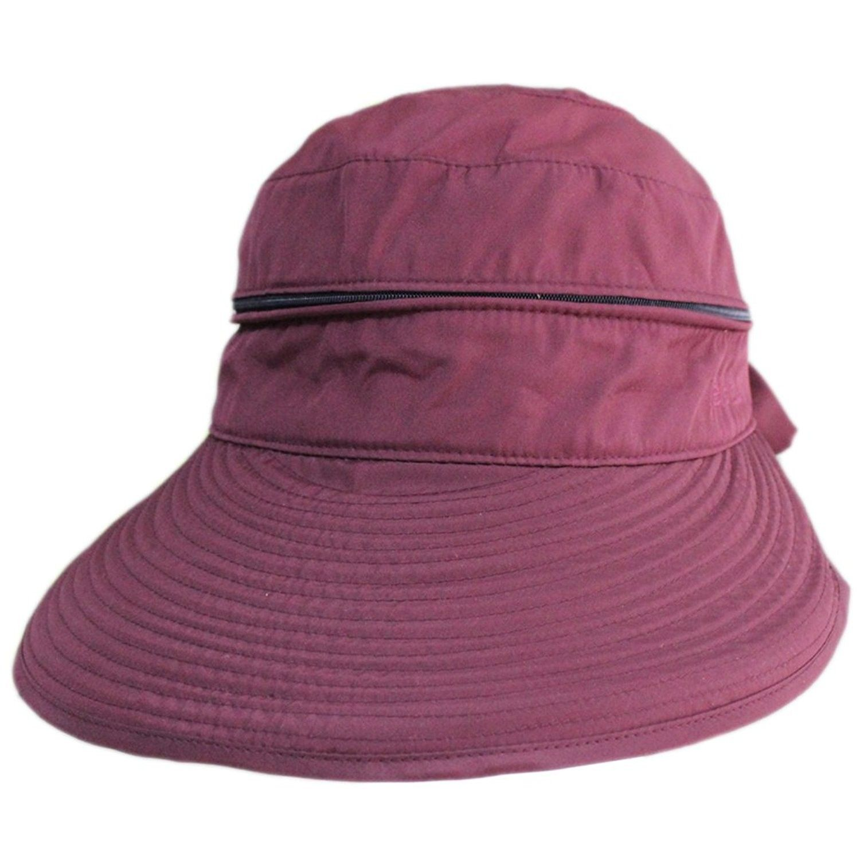 5d0bab78615f4 Women Summer Beach Big Brim 2in1 Combined Tennis Sun Top Floppy Hat Cap  Visor - Wine
