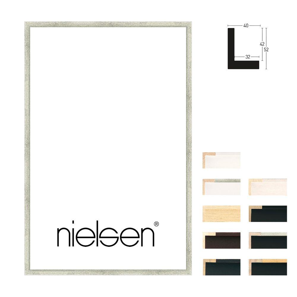 Nielsen Schattenfugenrahmen Sonderzuschnitt, Studio 40  Schwarz-Gold
