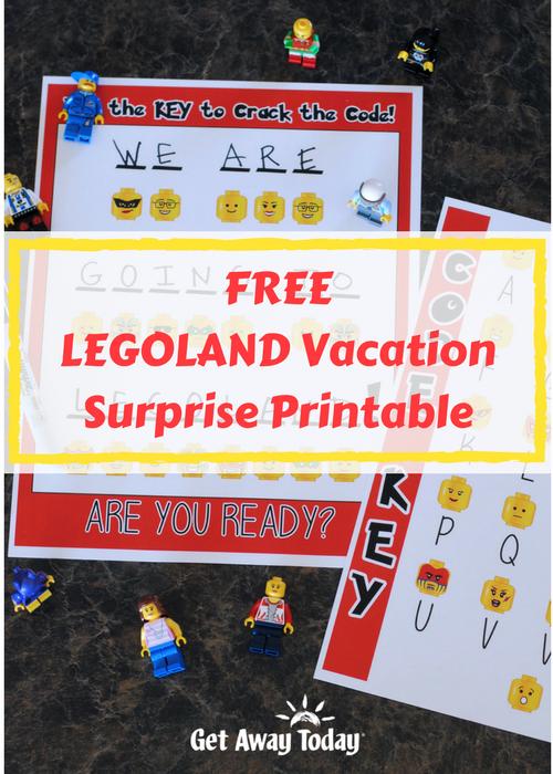 Free Legoland Vacation Surprise Printable Legoland Legoland California Legoland Florida