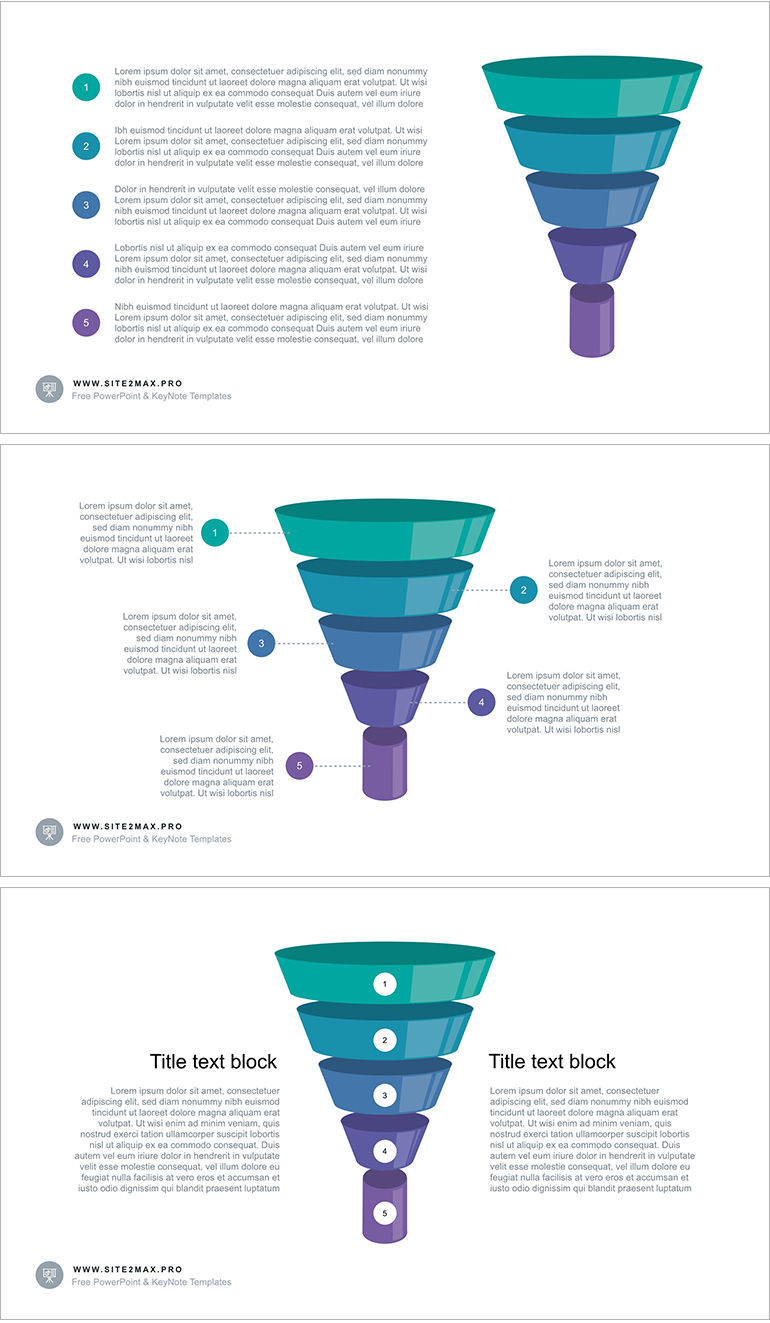 Free keynote template funnel diagram download link http the funnel diagram ppt type 2 template looks like a funnel cut into 5 pieces more funnel template for powerpoint ccuart