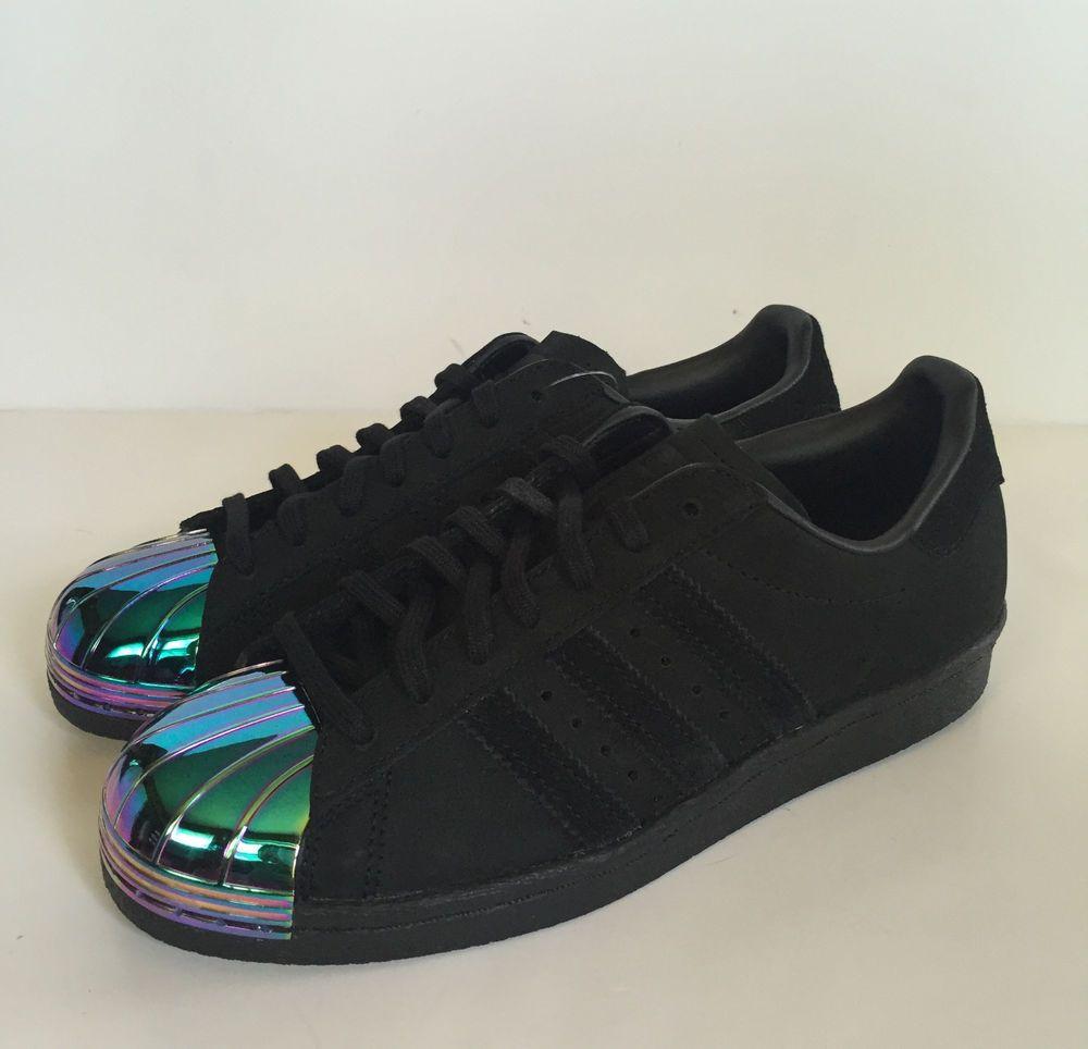 Adidas Women S Superstar Originals 80 S Metal Shell Toe Shoes Sneakers Black Ebay Adidas Superstar Metal Toe Shoes Sneakers Adidas Adidas Superstar Women