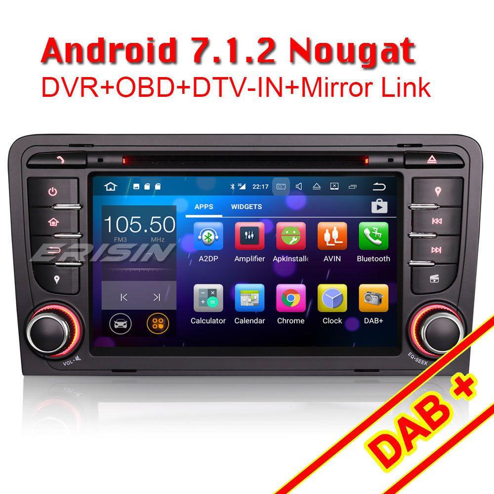 android 7.1.2 autoradio gps obd2 dab+dvb-t2-ein navi für audi a3 s3