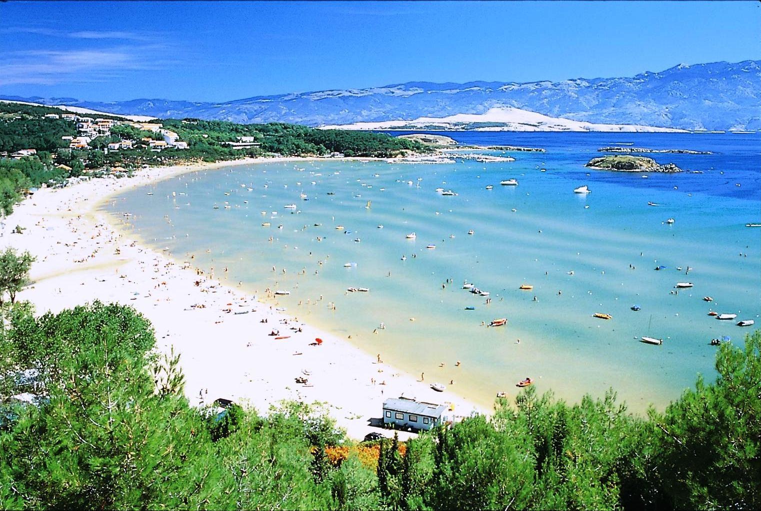 Der Havajka Strand in Pula, Istrien http//www.inistrien