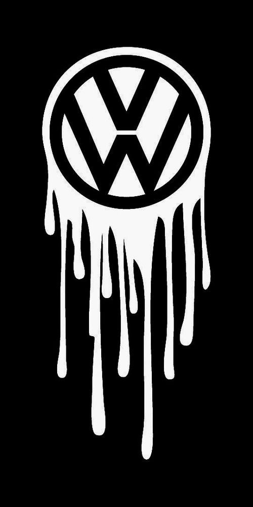f06676656bb5 VW VOLKSWAGEN DRIPPING LOGO VINYL STICKER DECAL GTI JETTA GOLF BEETLE BUG  BUS  allaboutdecal