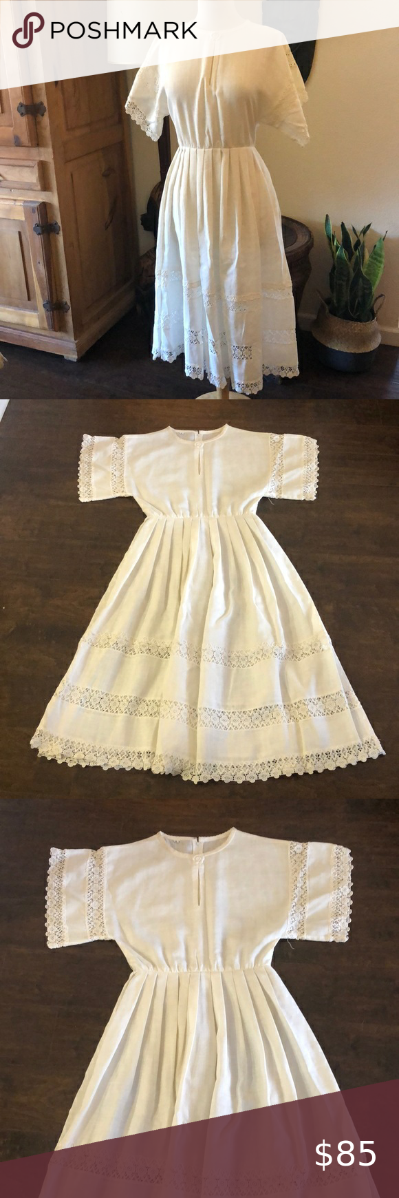 Vintage 70s Summer Dress Summer Dresses Cotton Dress Summer Dresses [ 1740 x 580 Pixel ]