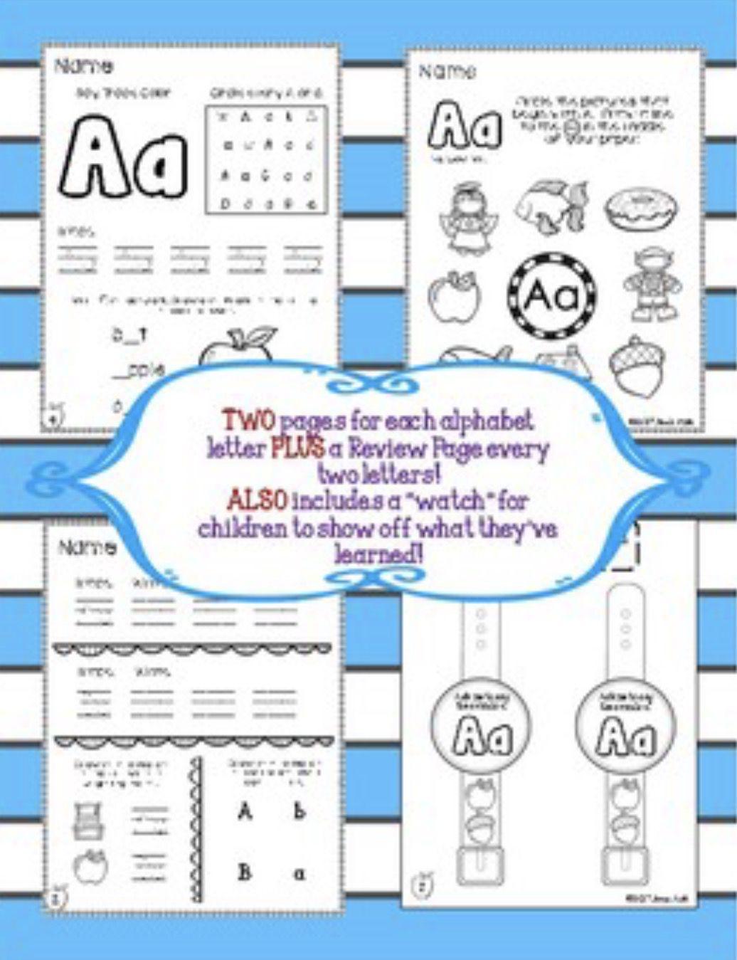 Alphabet Workbook For Kindergarten Over 90 Phonics