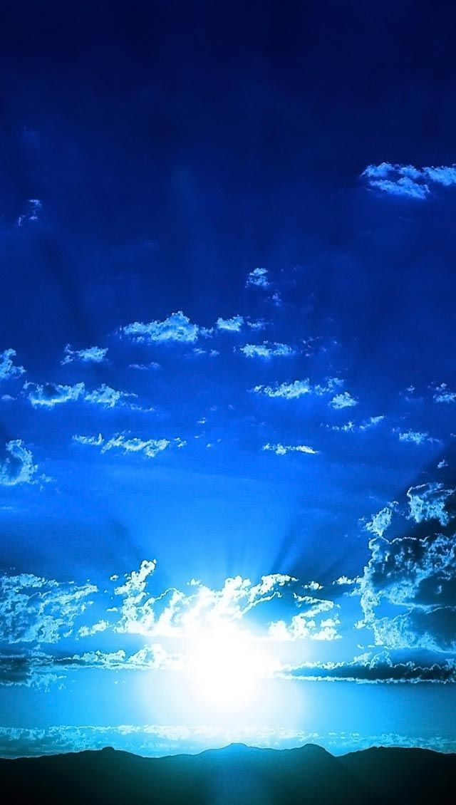 Blue Sunset Iphone Wallpapers Blue Sunset Landscape Pictures Sky