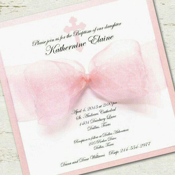 Cute girly invitations DIY Pinterest Girly, Christening and - invitation for baptism girl