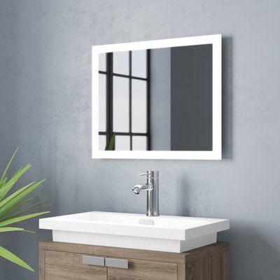 Astonishing Orren Ellis Dipali Led Bathroom Vanity Mirror Size 30 H X Download Free Architecture Designs Ferenbritishbridgeorg