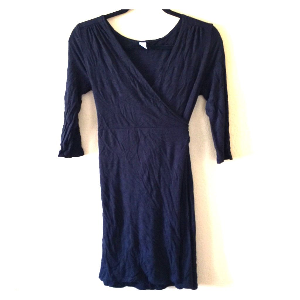 Old navy black wrap dress xs products