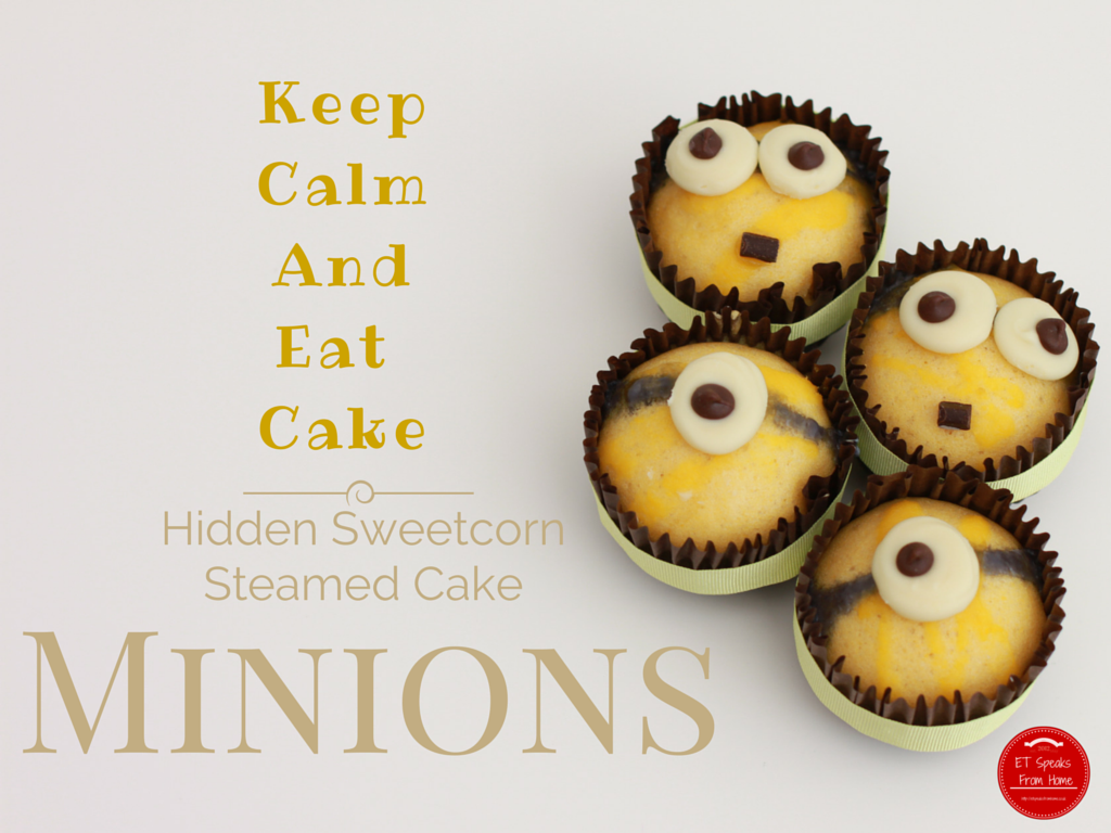 Minions Steamed Sweet Corn Cakes - ET Speaks From Home