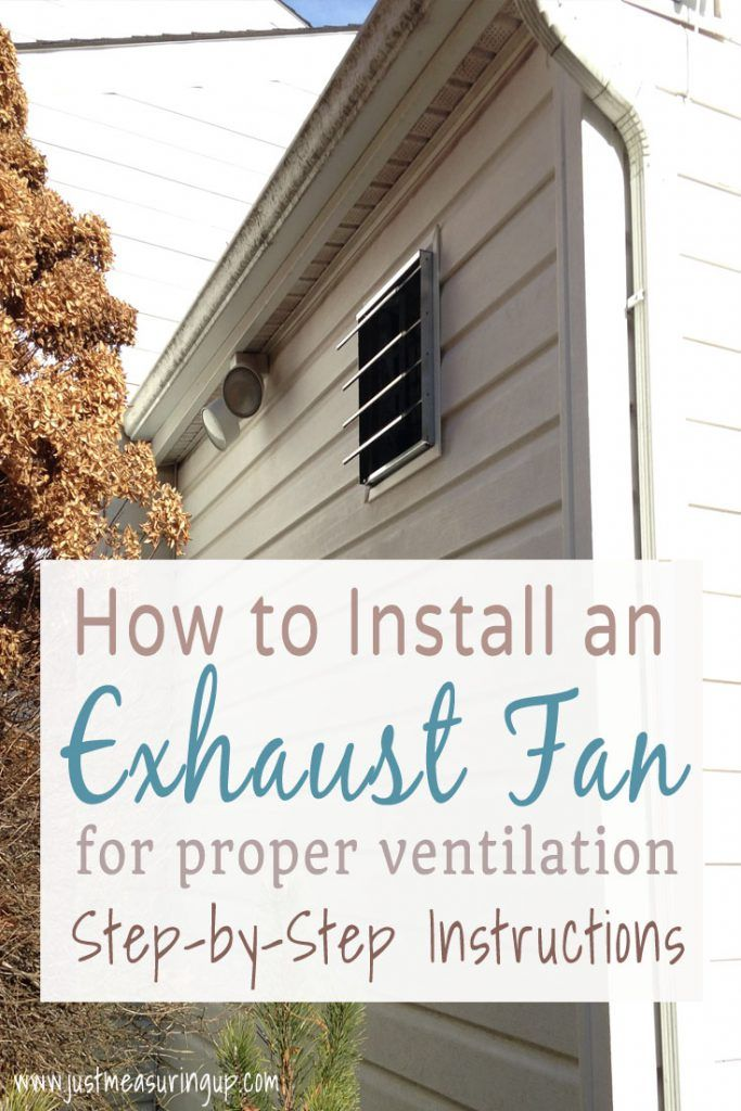 How To Install An Exhaust Fan Easy Diy Garage Ventilation System Tutorial Garage Ventilation Exhaust Fan Window Ventilation