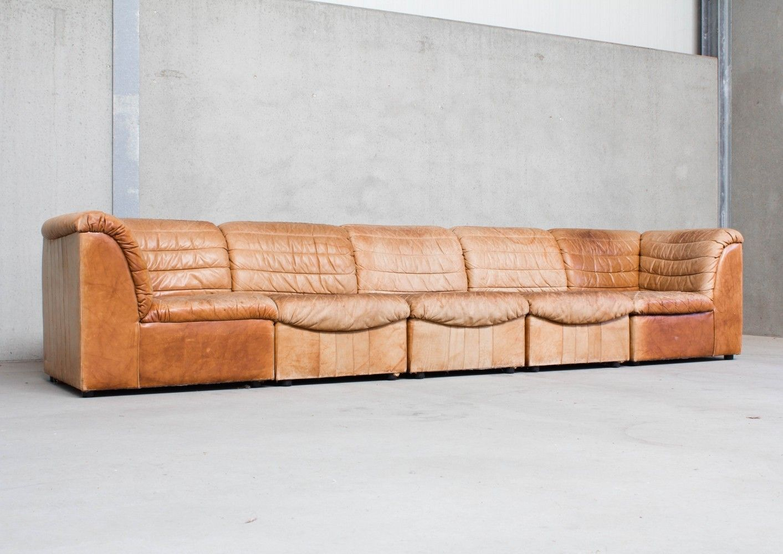For Sale Modular Sofa In Cognac Leather Modular Sofa Sofa Leather