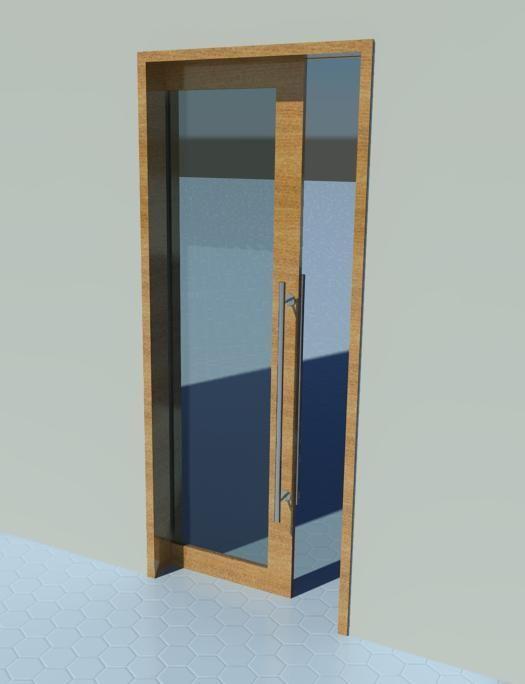 Sliding door pocket door glass revit models for Sliding glass panel doors